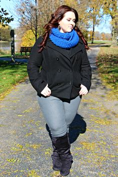 Plus Size OOTD: Pop of Blue #fatshion #plussize