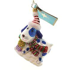 Christopher Radko SPOT DIGGITY Glass Christmas Ornament Dog