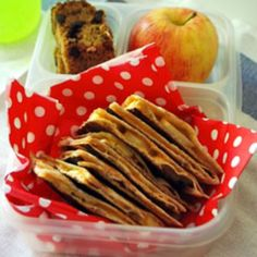 apple & cheddar quesadilla--for picky eaters