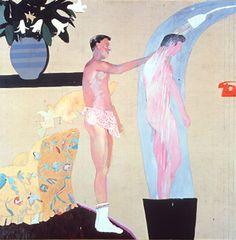 DAVID HOCKNEY: PAINTINGS. Domestic Scene, Los Angeles 1963 oil on canvas, 60x60 in.