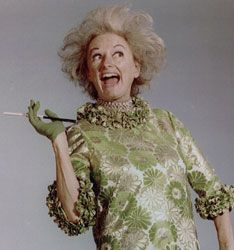 Phyllis Diller in her costume from the 1967 USO tour