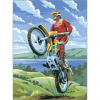 ROYAL LANGNICKEL - MOTOCROSS Paint By Number Kit. Item# RYB-PJS11 by ROYAL LANGNICKEL - MOTOCROSS Paint By Number Kit. SEE BELOW for Product Description, Specifications, Child Safety and Shipping Information.   http://www.oakridgehobbies.com/craft-activity-kits/childrens-kids-crafts-activity-learn-to-kits/children-kids-beginner-junior-paint-by-number-sets-learn-to-kits/royal-langnickel-motocross-paint-by-number-kit.html  $5.99