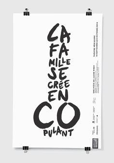 Théâtre des Fonds de Tiroirs | La Famille se crée en copulant | Affiche / Poster | lg2boutique
