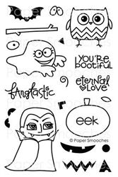 NEW PAPER SMOOCHES STAMPS!  This Spookalicious set will go fabulously with the Halloweenies set in the holidays section of the site.  I think I am mostly in love with the owl & the vamp!  Another awesome & creative set at only $14.99!