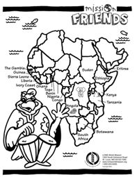 south america coloring pages for kids | 1000+ images about Lutherans in Africa on Pinterest ...
