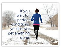 what are you waiting for? If the elderly man can be out walking his dog in the rain, I can jog in it.