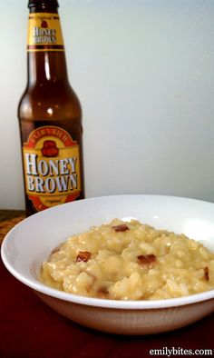 bacon, cheddar, and beer risotto. this sounds AMAZING. 8P+ for a 1 cup serving. definitely will be making this soon for sure!