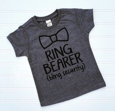 Ring Bearer Shirt, Ring Bearer Outfit, Wedding Shirt, Shirt for Ring Bearer, Bride Tribe, Gift For Ring Bearer