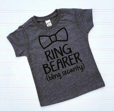 Ring Bearer Shirt, Ring Bearer Outfit, Wedding Shirt, Shirt for Ring Bearer, Bride Tribe, Gift For Ring Bearer