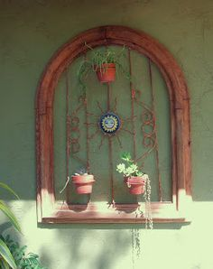 Thyme In A Bottle: Estate Sale Find Arch For Mexican Patio Wall