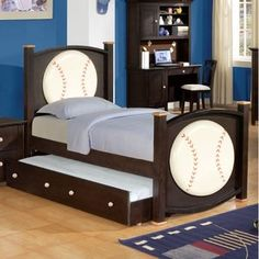 Baseball Bed Easy Diy For At End Of Round Wood Painted Like
