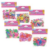 Foam stickers for dexterity and crafts.