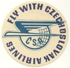 VINTAGE Luggage Label CSA Airlines CZECHOSLOVAKIA | eBay
