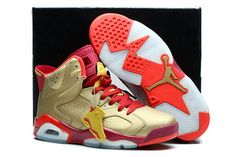 best sneakers 9b24f 9b6bf Buy Clearance Nike Air Jordan Vi 6 Retro Mens Shoes Gold Red White New from  Reliable Clearance Nike Air Jordan Vi 6 Retro Mens Shoes Gold Red White New  ...