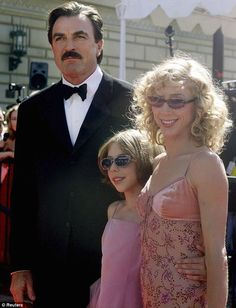 Flashback: Miss Selleck pictured with her famous father Tom and mother Jilly Mack at the Emmy awards in 2000 - cheap intimates, inexpensive intimates, intimate *ad Lingerie Latex, Jesse Stone, Sam Elliott, Tom Selleck, Blue Bloods, Daddys Girl, Celebs, Celebrities, Brad Pitt