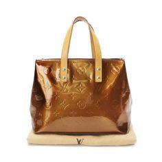 Louis Vuitton Reade PM  Monogram Vernis Wallets Brown Patent Leather M91146