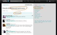 Help me fight the fatpeoplenightmares Trending Topic on Twitter