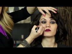 ▶ How to Do Flapper Hair & Makeup : Easy Hairstyles & Makeup - YouTube