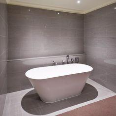 RAK - 4 Lounge Grey Porcelain Polished Tiles - - at Victorian Plumbing UK Small Bathroom Tiles, Grey Bathrooms, Bathroom Flooring, Bathroom Ideas, Bathroom Furniture, Bathroom Inspiration, Shower Ideas, Design Inspiration, Lounge Lighting