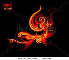Fire flames tattoo