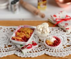 RESERVED-Miniature Cherry Cobbler Set