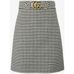 fc1f4686f9 Gucci Midi A-Line Dogtooth Print Skirt ( 830) ❤ liked on Polyvore featuring