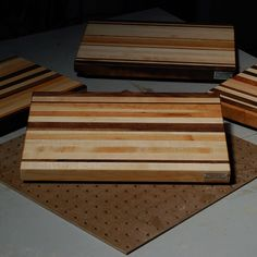 From our June '12 Cutting Board Class - love the thin stripes of walnut, also that cherry near the top has both the heartwood and sapwood - as it ages the darker heartwood will continue to get darker, but the sapwood will stay light. Will be some great contrast.