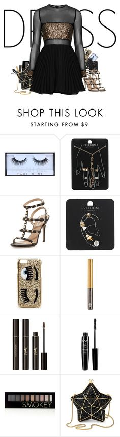"""""""Untitled #115"""" by ohmyheartu ❤ liked on Polyvore featuring Huda Beauty, Topshop, Valentino, Chiara Ferragni, Urban Decay, Yves Saint Laurent, NYX, Forever 21, Aspinal of London and dress"""