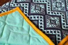The How-To Gal: How To: Quilted Geometric Chevron Baby Blanket