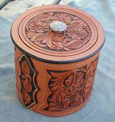 Leather Carved Box-SR