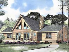 Log Houses House Plan with 1502 Square Feet and 3 Bedrooms from Dream Home Source | House Plan Code DHSW33045