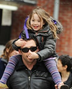Hugh and Ava Hugh Michael Jackman, Hugh Jackman, Angelina Jolie, Beautiful Children, Beautiful Men, Cute Celebrities, Celebs, Laura Movie, Men And Babies