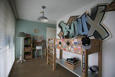 Graffiti kinder kamer Roux