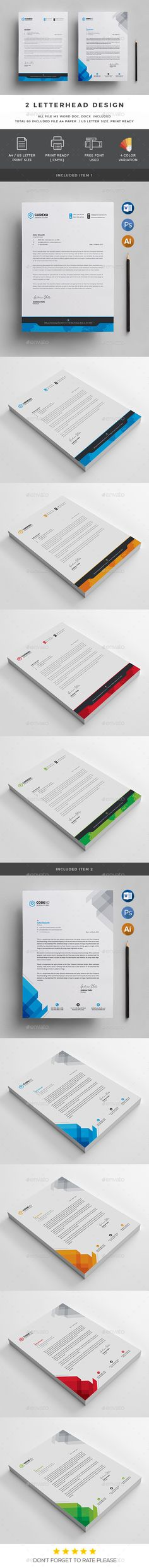 Business Company Letterhead Template - Free small, medium and - free business letterhead templates download