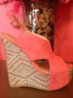 Rose Suede Wedges
