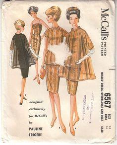 1962 Dress Blouse Coat Pauline Trigere McCalls Sewing Pattern 6567 Uncut Size 14 #McCalls #Dress