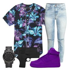 """""""Untitled #851"""" by kgoldchains ❤ liked on Polyvore featuring PacSun, H&M, NIKE and Michael Kors"""