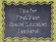 """A Special Sparkle: Tips For New Special Education Teachers.  Here's an awesome post- not just for special ed teachers, but for ALL of us!  We will probably all have a """"quirky kid"""" or two in our class now and then!"""