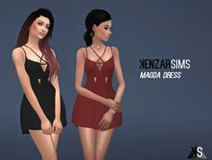 Kenzar Sims: Magda dress • Sims 4 Downloads