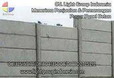 Light Group Indonesia: CARA INSTAL PAGAR PANEL BETON