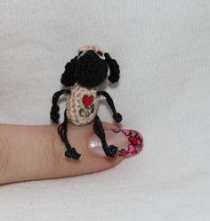 Micro Crochet Tiny Sheep by BeautyIsPower on Etsy, $20.00