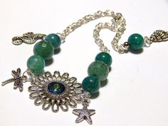 Life's A Beach Charm Bracelet With Green by MURPHYSTREASURES2, $16.95