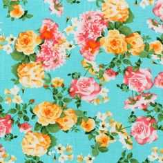 floral on turquoise background - Google Search