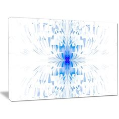 DesignArt 'Blue Butterfly Outline on White' Graphic Art on Wrapped Canvas Size: