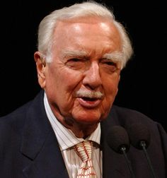 "Walter Cronkite |  ""And that's the way it is."""