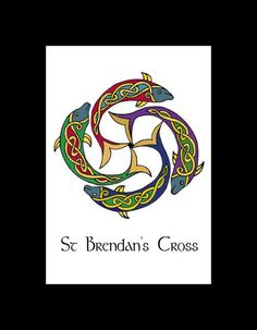 Shop for on Etsy, the place to express your creativity through the buying and selling of handmade and vintage goods. Heidnisches Tattoo, Tattoos, Celtic Symbols, Celtic Art, St Brendan, Viking Embroidery, Irish Mythology, Irish Art, Illuminated Manuscript