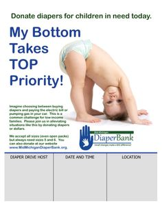 Advertise your diaper drive in a highly visible area, such as a break room or reception area.