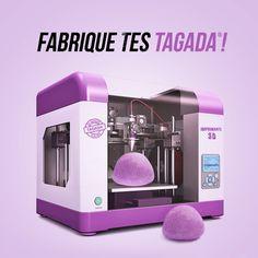#Tagada lance l'imprimante 3D ! Choisis ton parfum et crée TES Tagada !