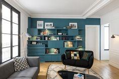 Salon aménagé et décoré par la décoratrice d'intérieur Vanessa Faivre