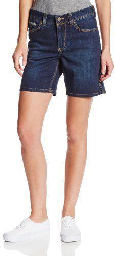 $24, Navy Denim Shorts: Carhartt Sibley Denim Work Flex Short. Sold by Amazon.com. Click for more info: http://lookastic.com/women/shop_items/178231/redirect